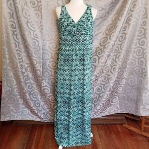 NWT Chaps long sleeveless maxi dress